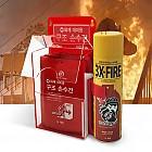 화재 대피함 세트 (화재대피용 구조손수건 10매 + 스프레이 소화기)