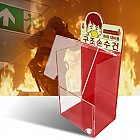 화재대피용 캐릭터 보관함 OPEN형 아크릴케이스 (화재대피용 구조손수건, 축광 자체발광)
